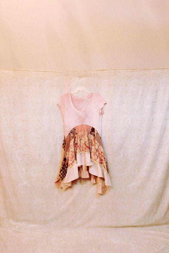 Camisa de Upcycled Boho de renacimiento las mujeres por REVIVAL