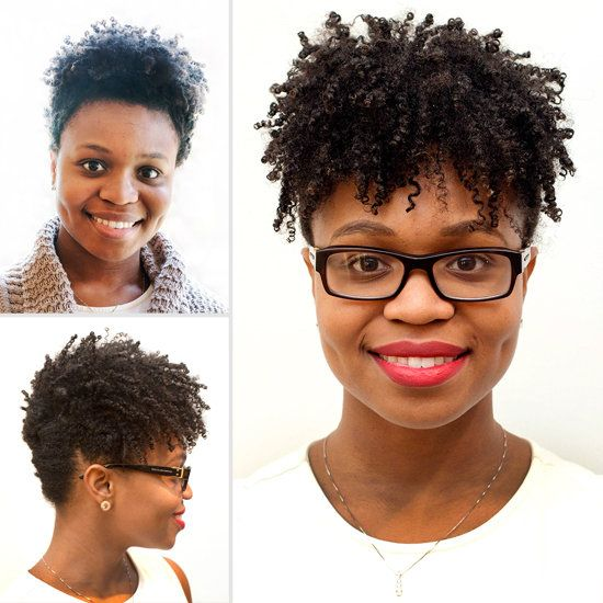 A Simple DIY Updo That Works On Short Natural Hair