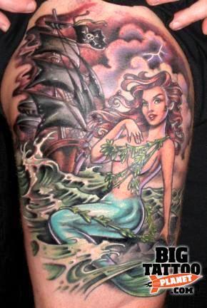 Hannah Aitchison - Mermaid Tattoo | Big Tattoo Planet