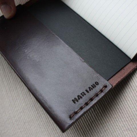 """Libreta """"nota y garabato"""" ejemplo grabado en solapa interior"""