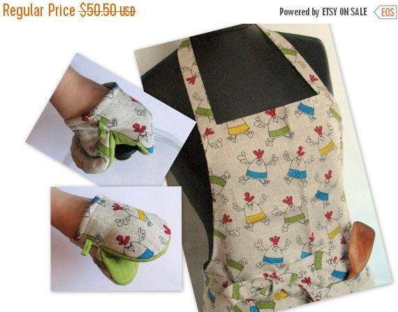 Linen Kitchen kit Utility Apron Womens Aprons for by Initasworks