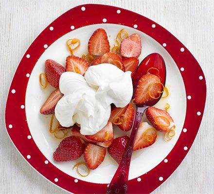 Strawberries Romanoff   BBC Good Food