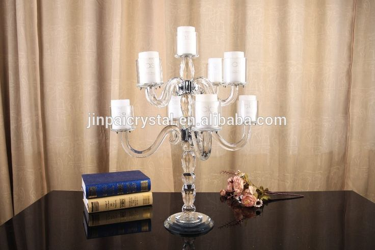 Small Cheap 9 Arms Wholesale Crystal Candelabras On Sale Wedding Table Centerpeice Decor