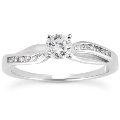 Perfect  Carat Diamond Engagement Ring in k White Gold Szul Complimentary
