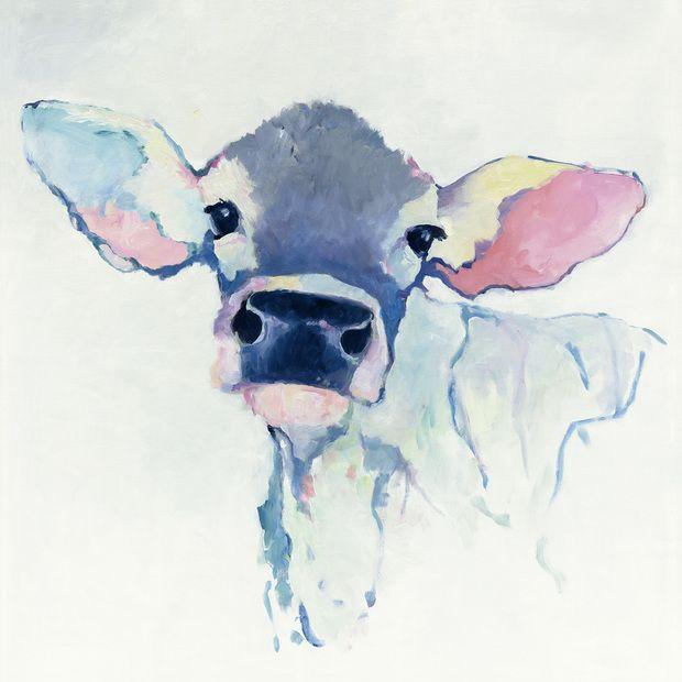 Watercolor Cow - Wall Mural & Photo Wallpaper - Photowall