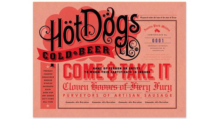 hotdog menu