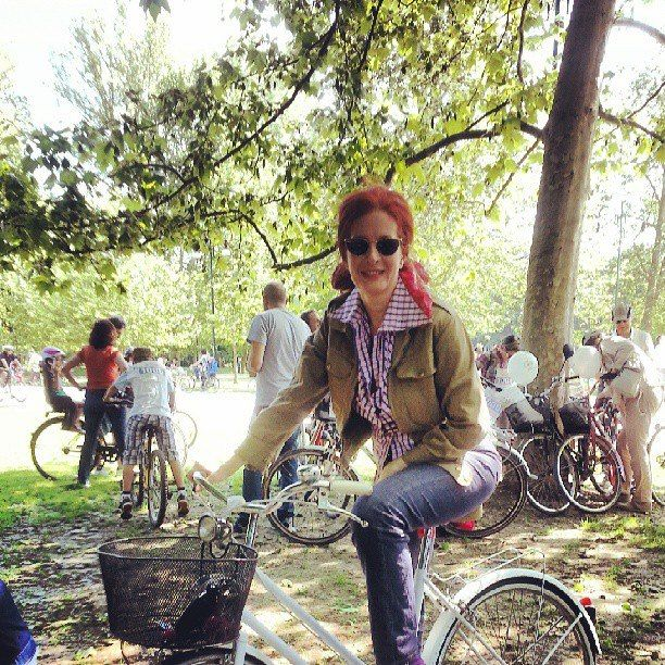 The RedHead, Rossana Diana, @ cyclepride in Milano
