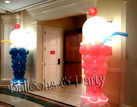 17 best images about ice cream balloons on pinterest for Balloon decoration machine