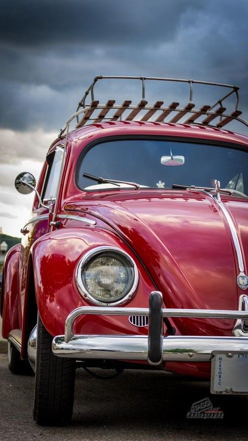 .Red Top Rack Volkswagen Beetle