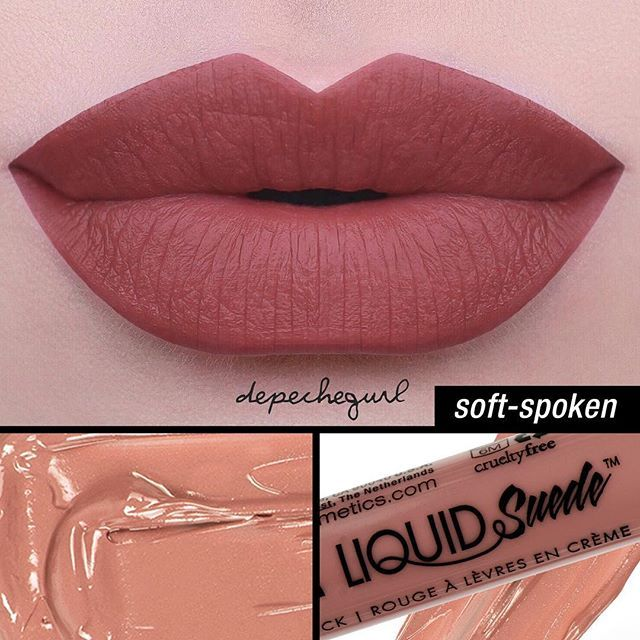 NYX Liquid Suede Soft-Spoken, beautiful color but I wish they would swatch it on different skin tones. It looks a bit different on mine but still love.