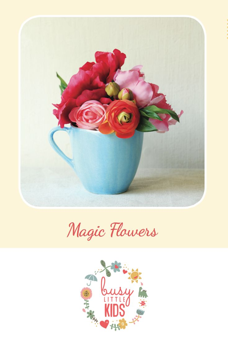 Fun, simple, easy sunny day kids activity - Magic Flowers