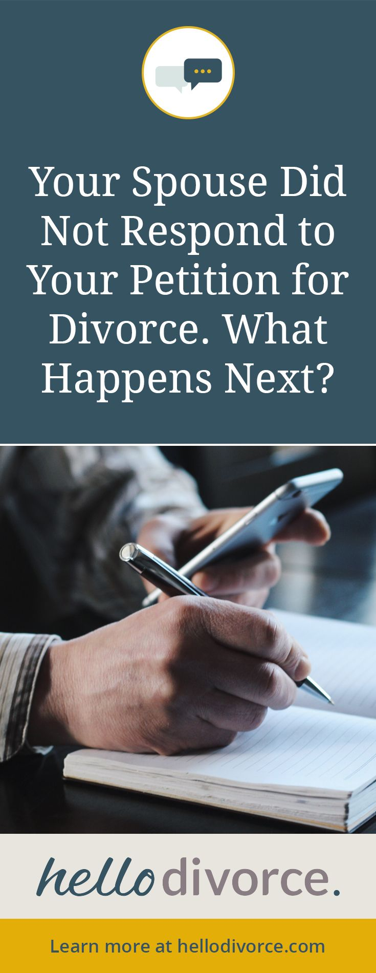Spouse did not file a #Response to your Petition for #divorce? Find out what to do next. #divnav #divorcehelp #DIYdivorce #default #divorcedefault