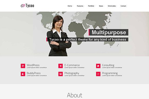 Tycoo - WP Business Theme ~ WordPress Business Themes on Creative Market