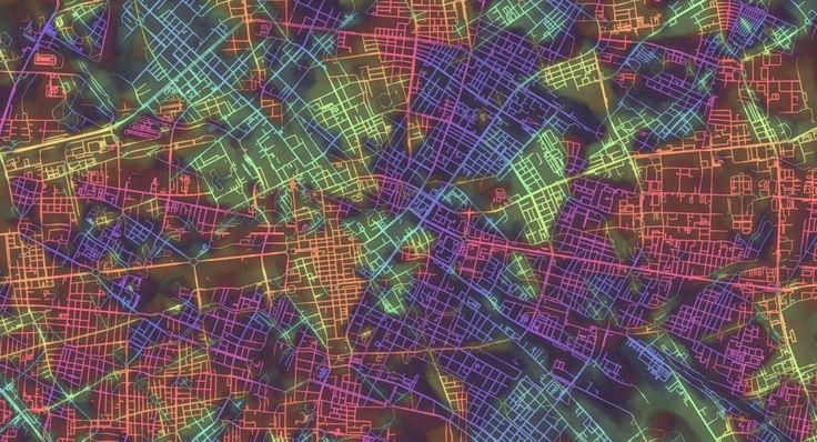 "Enter the Mesmerizing World of Rainbow Coloured Maps with ""Crayon the Grids"""