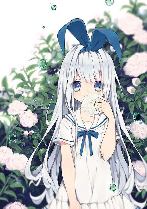 Manga fille cheveux blanc - Hey Mangas !