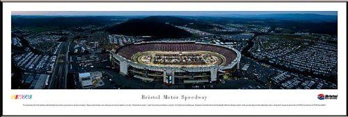 """NASCAR Tracks - Framed Panoramic Photo by Blakeway. $89.95. This aerial panorama of Bristol Motor Speedway features the first night race since the track was reconfigured. Changes were made to the track in response to fan requests and to return the Speedway to its iconic status - """"the hottest ticket in motorsports."""" Located in Bristol, Tennessee, the Speedway was constructed in 1960 and held its first race the following year. The entrepreneurs who built the track..."""