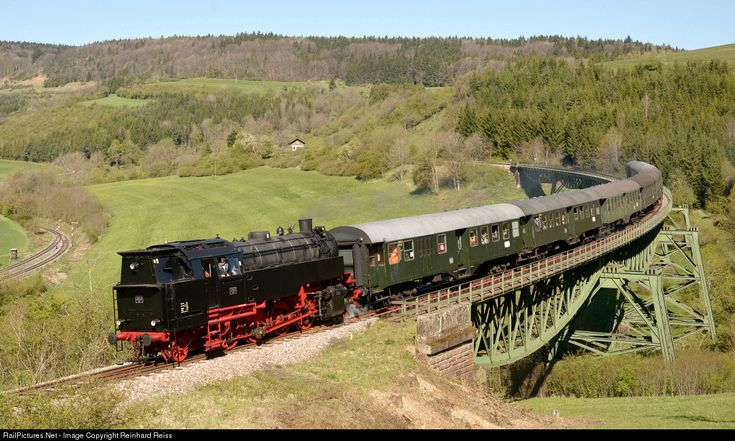 FK 262 WTB Wutachtalbahn Steam 2-8-2 at Epfenhofen, Germany by Reinhard Reiss