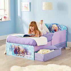 Lit enfant Elsa et Anna Reine des Neiges avec tiroirs de rangement Disney LA REINE DES NEIGES - Lit enfant