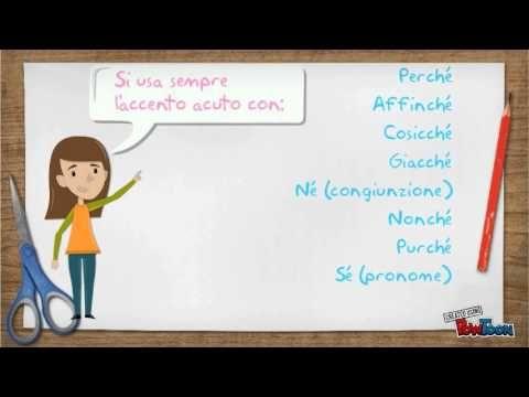 Ripassiamo l'italiano: gli Accenti - YouTube