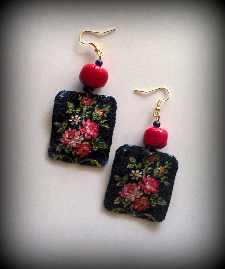 vintage ribbon earrings/KINZ jewelry