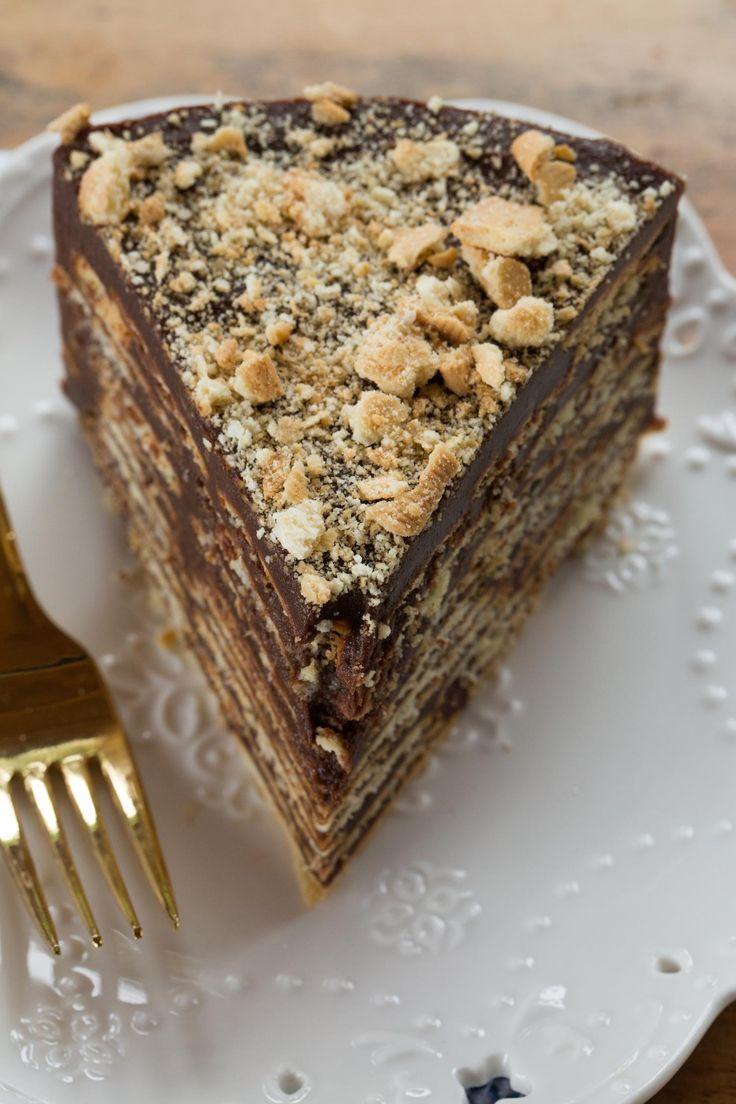 Bolo biscoito com brigadeiro ou Torta de palha italiana | Vídeos e Receitas de…