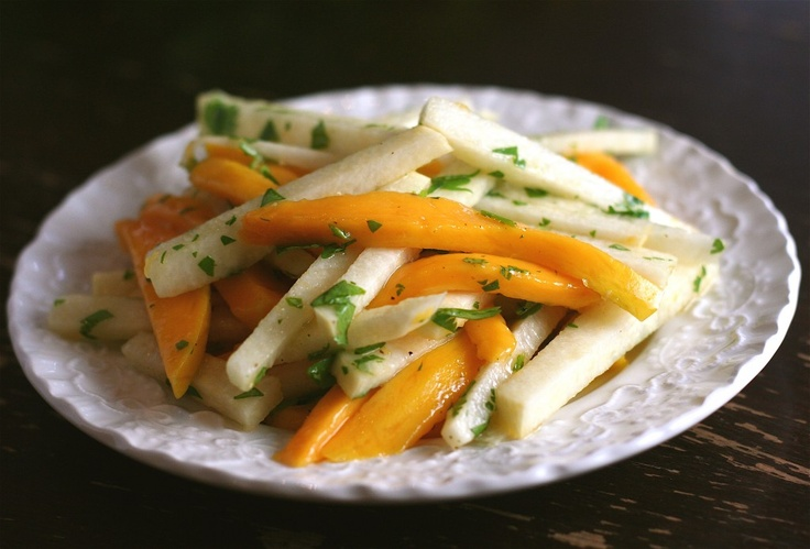 Mango and Jicama Slaw || My Daily Morsel | Food - Salads:Fruit (mango ...