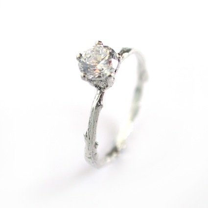 Beautiful Alex Monroe engagement ring so dainty and pretty love it