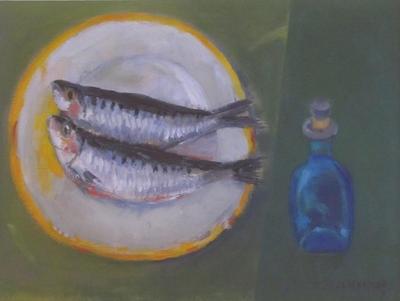 Two Sardines on a Plate; Elizabeth Blackadder
