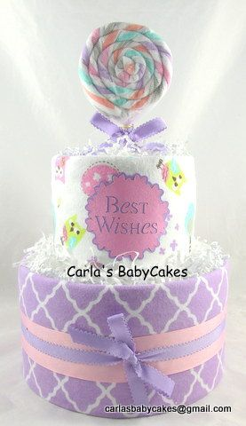 Girl diaper cake  Unique baby gift  Baby by MsCarlasBabyCakes