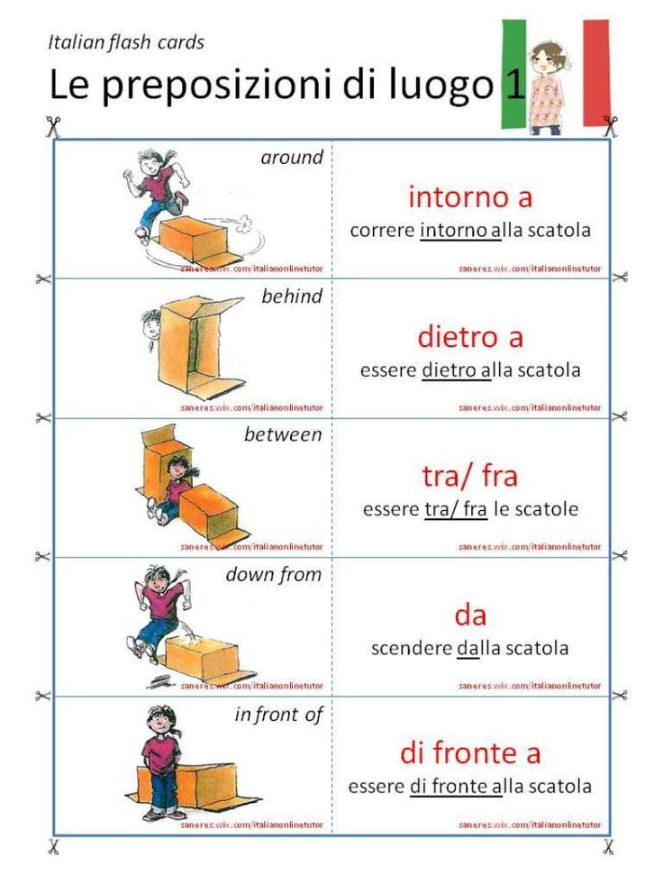 01 Le preposizioni di luogo (video lesson & flash cards) Serena Italian's BLOG: http://serenaitalian.wordpress.com/