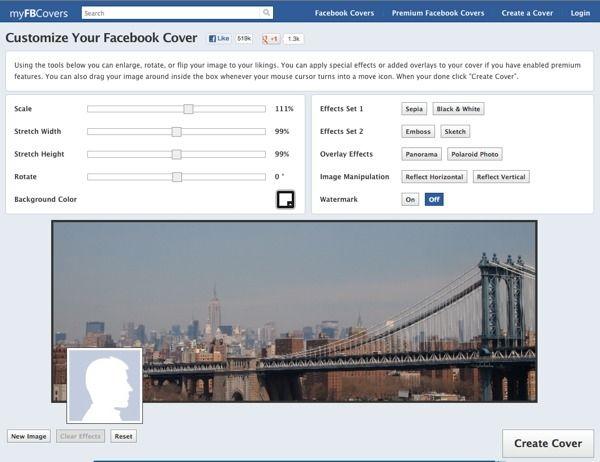 Para crear fotos para la portada de facebook