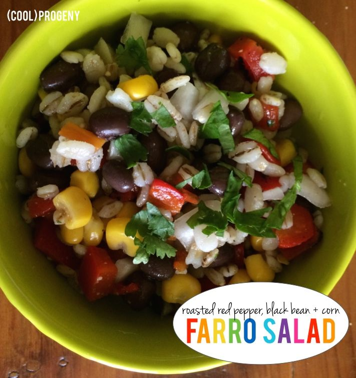 Roasted Red Pepper, Farro Salad | EAT Clean! | Pinterest