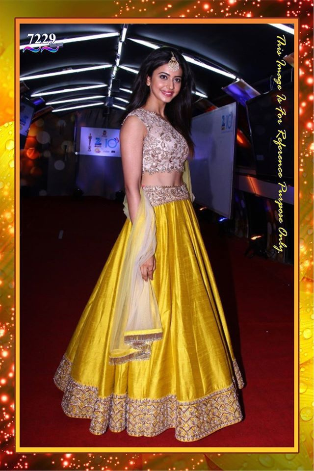 Elegant Yellow Bollywood Lehenga Choli Online