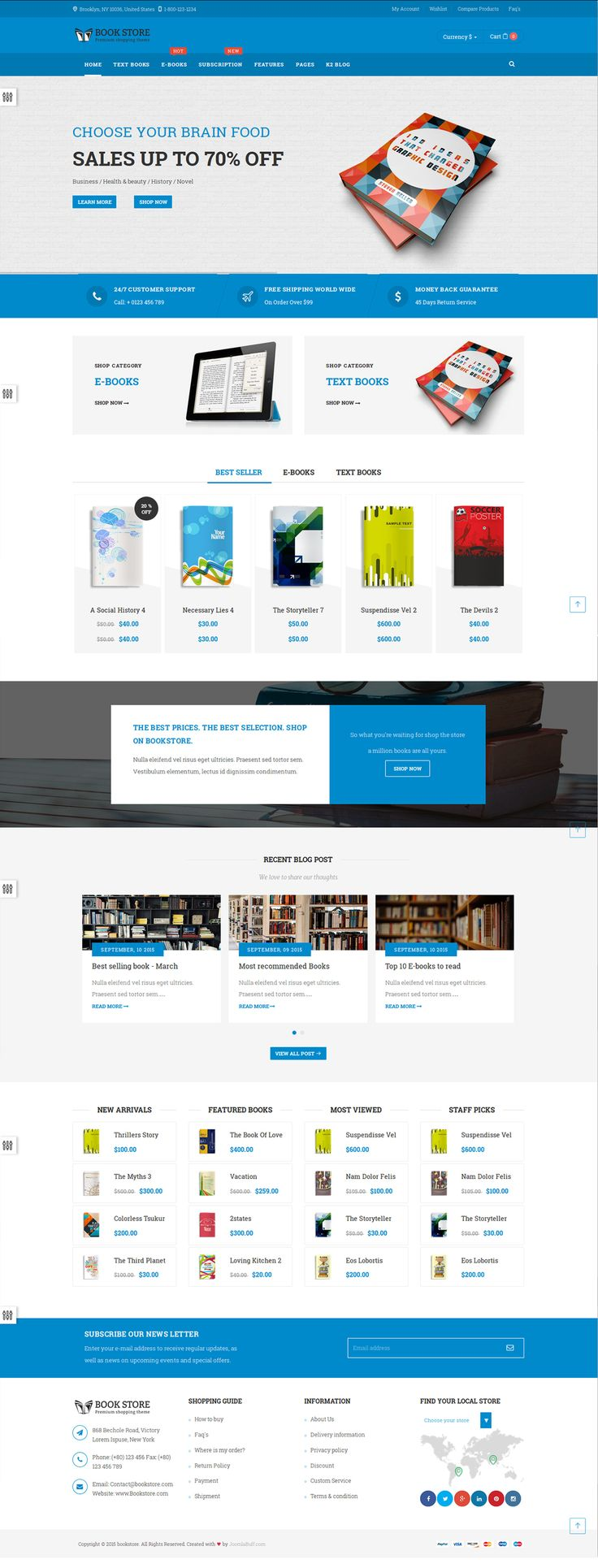 7 best bookstore - joomla ecommerce tempalte with ebook, Powerpoint templates