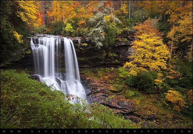 Autumn at Dry Falls - Highlands, NC Waterfalls by Dave Allen Photography, via Flickr