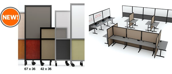 ABCO Snap Panel Mobile Room Divider 67 x 36