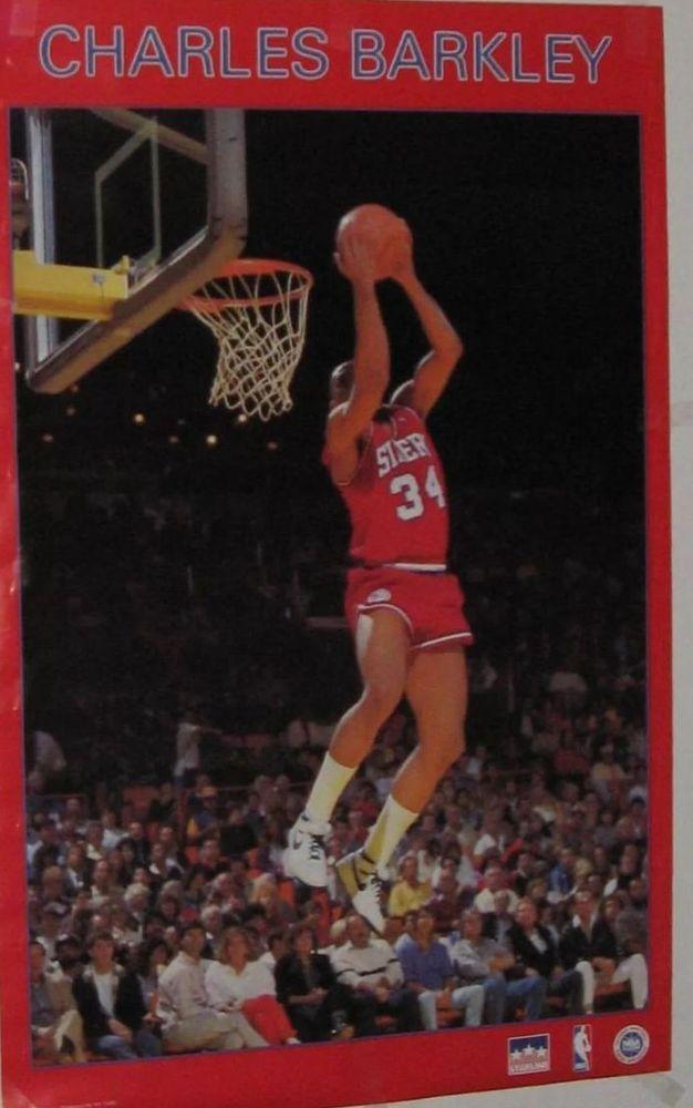 vtg charles barkley philadelphia 76ers sixers poster ...