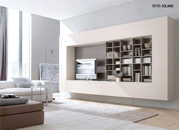 ideje za bijeli regal u dnevnom boravku / ideje za uređenje doma, Attraktive mobel