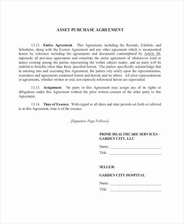 Asset Transfer Agreement Template Inspirational 9 Sample Purchase Agreement Forms Sample Example Format Agreement Purchase Agreement Contract Template