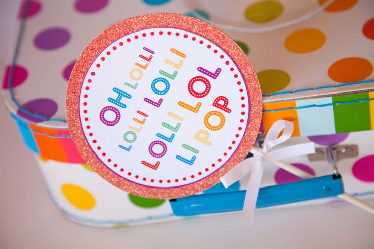 Rainbow Party / Rainbow Lollipop Party Themed 4 Inch Circles by JoStudioPartyPaperie on Etsy https://www.etsy.com/listing/156123122/rainbow-party-rainbow-lollipop-party