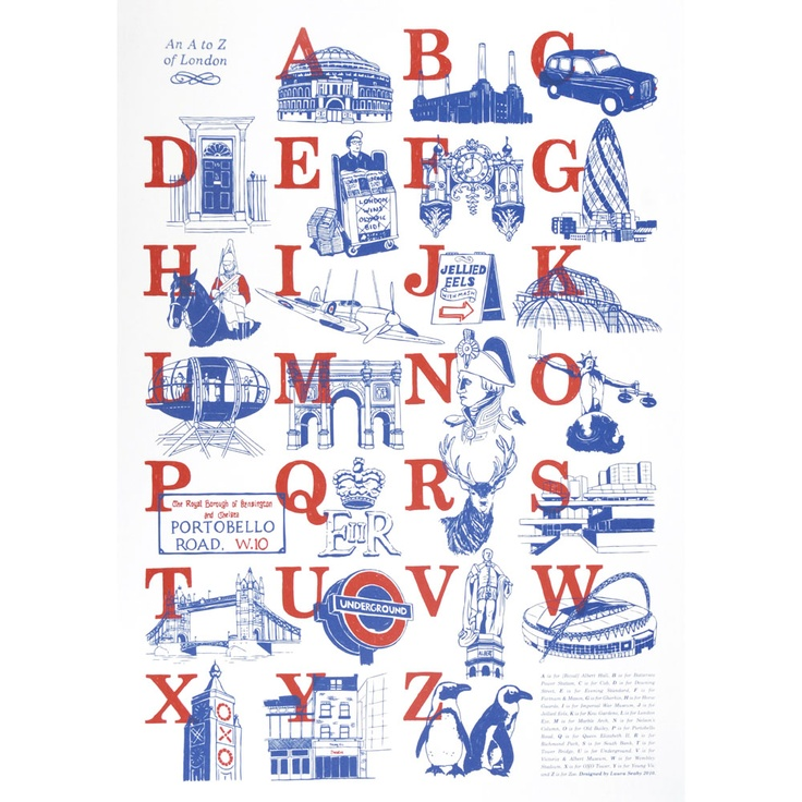 An A to Z of London Print