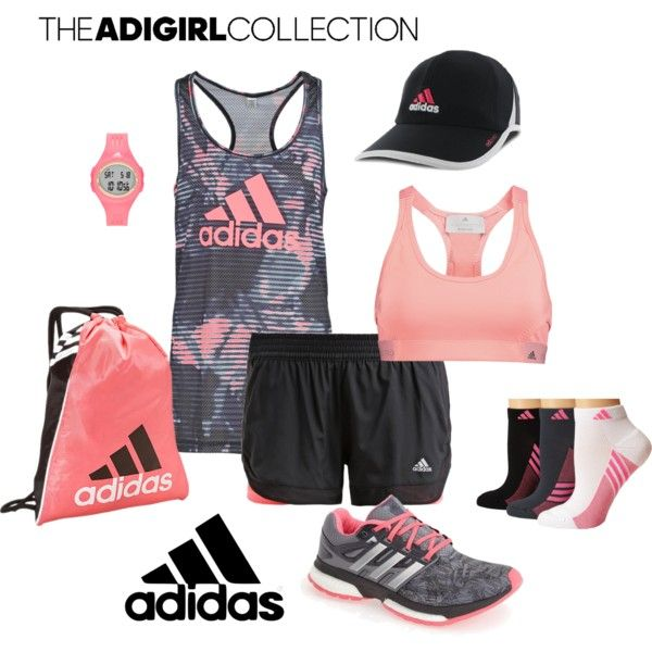 A fashion look from August 2015 featuring adidas activewear tops, adidas activewear and adidas sports bras. Browse and shop related looks.
