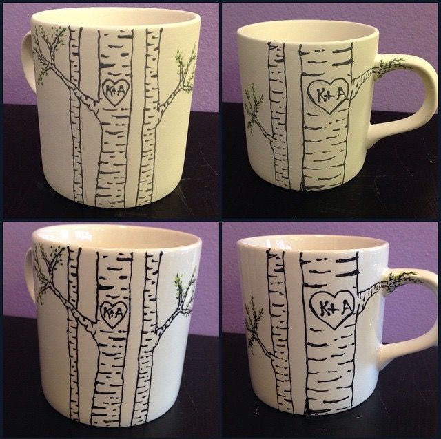 Best 25 pottery painting ideas on pinterest pottery for Clay mug ideas