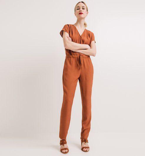 Combinaison-pantalon Femme caramel - Promod