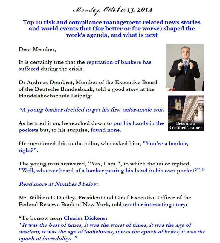 Newsletter, October 13, 2014