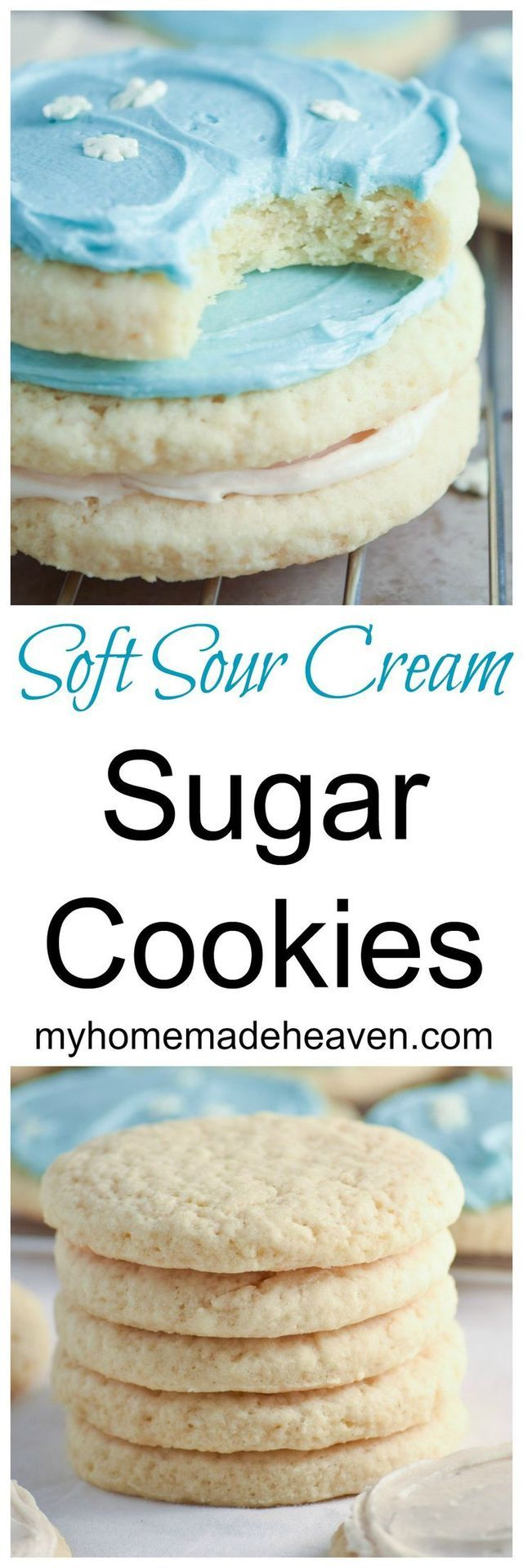 Soft Sour Cream Sugar Cookies - Wow! We just made these and they are SO soft! This recipe is definitely a keeper!