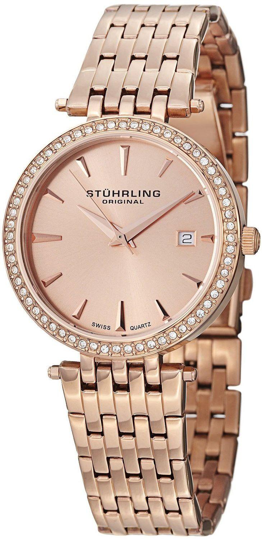 Reloj Stuhrling Original Rosa Soiree Tiara de cuarzo suizo Swarovski | Antes: $1,275,000.00, HOY: $248,000.00