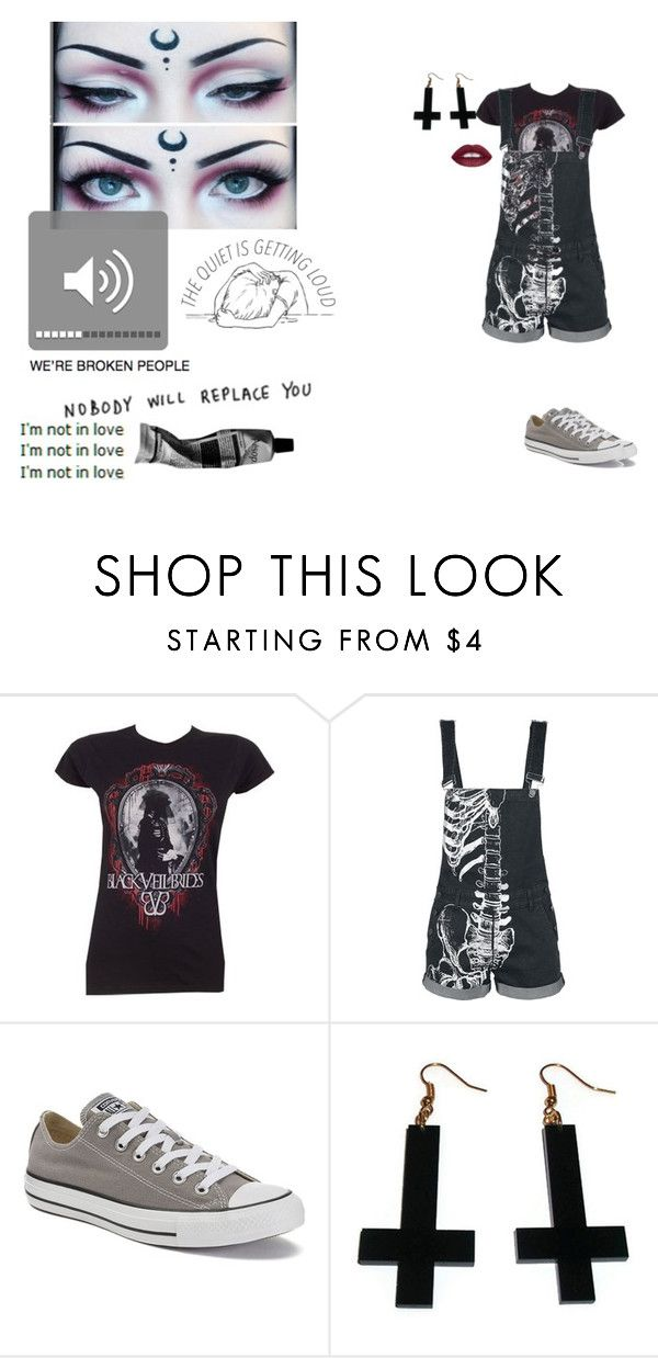 """""""FILTHY PRIDE"""" by bring-me-the-neko ❤ liked on Polyvore featuring Converse, Chicnova Fashion and Aesop"""