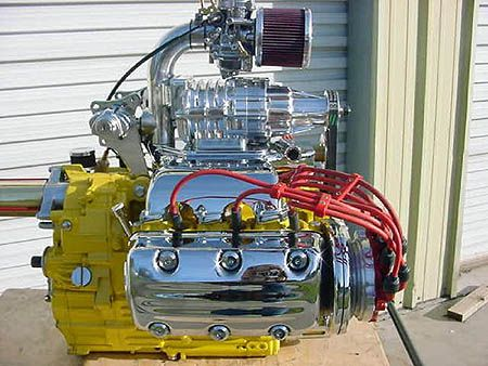 Supercharged Honda Valkyrie engine