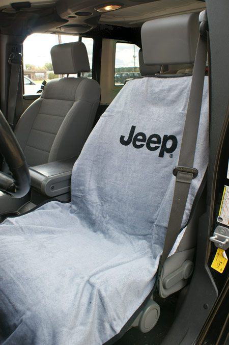 Jeep Seat Towels, perfect for after a day at the beach or on a boat.